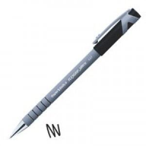 Paper Mate Flexgrip Ultra Ball Point Pen Fine 0.8mm Tip 0.3mm Line Black Ref S0190053 [Pack 12]
