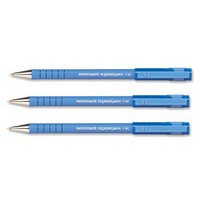 Paper Mate Flexgrip Ultra Ball Point Pen Fine 0.8mm Tip 0.3mm Line Blue Ref S0190093 [Pack 12]