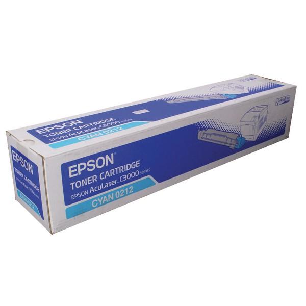Epson AcuLaser C3000 Acubrite Toner Cartridge Cyan S050212 C13S050212