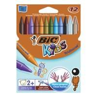 Bic Kids Plastidecor Crayons Colour Hard Long-lasting Sharpenable Vivid Assorted Ref 829770 [Pack 12]