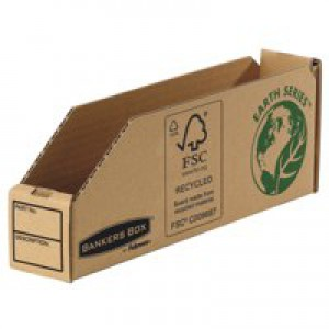 Fellowes Basics Parts Bin Corrugated Fibreboard Packed Flat 51x280x102mm Ref 07351 [Pack 50]