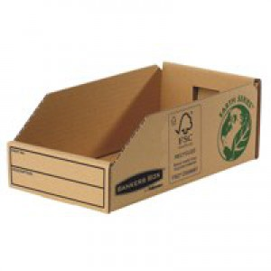 Fellowes Basics Parts Bin Corrugated Fibreboard Packed Flat W147xD280xH102mm Ref 07354 [Pack 50]