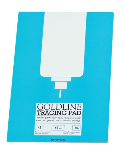 Goldline Popular Tracing Pad 63gsm 50 Sheets A3 Ref GPT2A3Z [Pack 5]