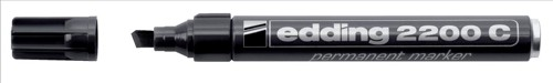 Edding 2200C Permanent Marker Chisel Tip 1-5mm Line Black