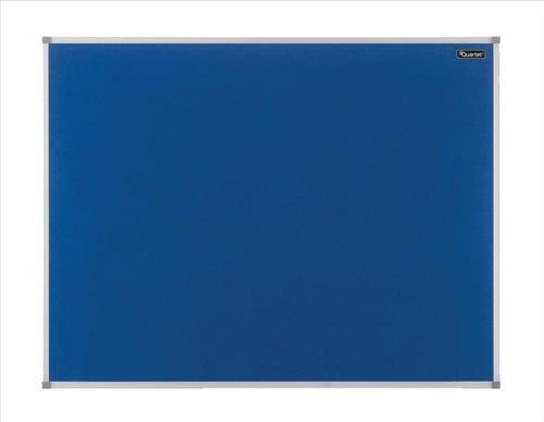 Quartet Felt Notice Board Aluminium Trim 600x450mm Blue