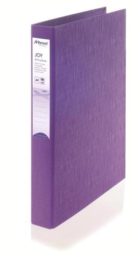 Rexel JOY Ring Binder 25mm Purple