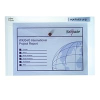 Snopake Polyfile Classic Wallet File Polypropylene Foolscap Clear Code 11154