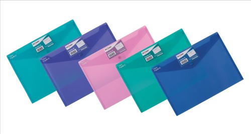Snopake Polyfile ID Wallet File Polypropylene with Card Holder A4 Electra Assorted Pack 5 Code 14734