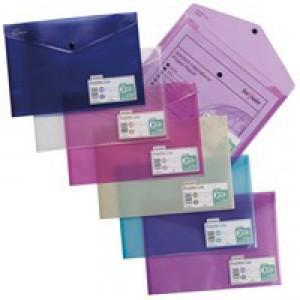 Snopake Polyfile Lite A4 Assorted Pack 5 Code 15411