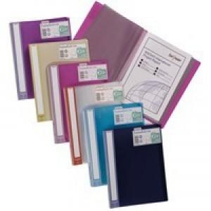 Snopake Lite Display Book 40 Pocket Assorted Pack 12 Code 15415