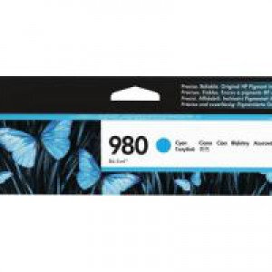 HP 980 Officejet X555/X585 Cyan Ink Cartridge 6.6k D8J07A