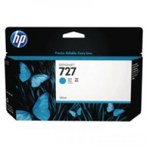 HP 727 130ml Inkjet Cartridge Cyan Code B3P19A