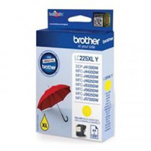 Brother LC225XLY Inkjet Cartridge High Yield Yellow