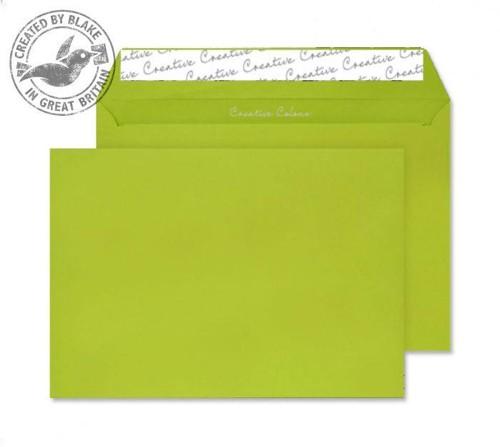 Juice Envelopes Wallet 120gsm Acid Green C5 Pack 25