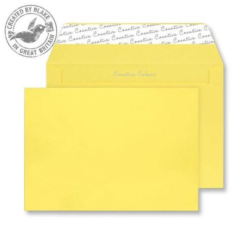 Juice Envelopes Wallet Peel and Seal 120gsm Banana Yellow C5 Ref 45303 [Pack 25]