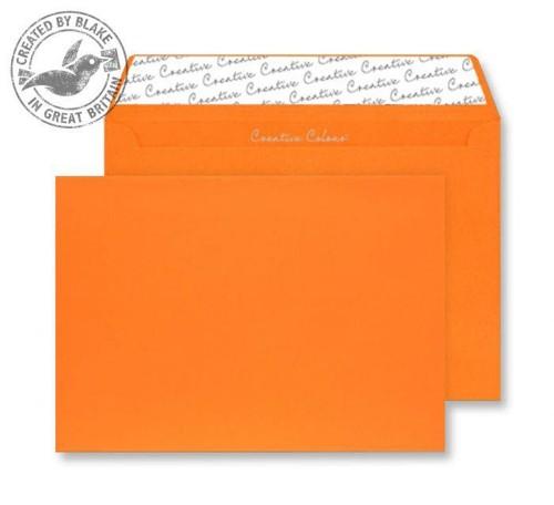 Juice Envelopes Wallet Peel and Seal 120gsm Pumpkin Orange C5 Ref 45305 [Pack 25]