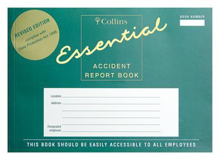 Collins A5 Accident Report Book Landscape Green