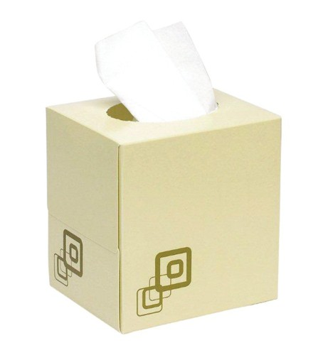 Luxury Facial Tissues Cube Box 70 Sheets [Pack 24]