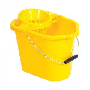 Oval Mop Bucket 12 Litre Yellow