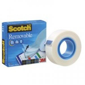 3M Scotch Magic Tape 811 Removable 19x33m Repositionable Adhesive Code 8111933
