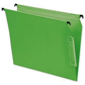 Elba Flex Lateral File Kraft 220gsm V-base 330mm Green Pack 25