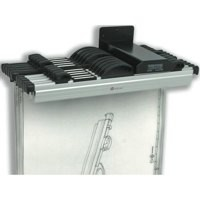 Arnos Hang-A-Plan Front Load Wall Rack for 10 Binders A0-A2 140x300x100mm Code 1200