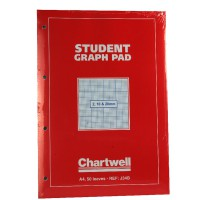 Image for Silvine A4 Graph Pad 2/10/20mm 90gsm