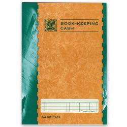 Rhino Book Keeping Book Cash Ruled A4 Green (12) BKC