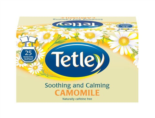 Tetley Tea Bags Camomile Smile Individually Wrapped Pack 25 Code A06677