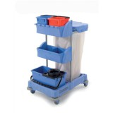 Numatic Xtra-Compact XC-1 Cleaning Trolley with 3 Buckets and 2 Tray Units Code XC1/TM