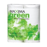 Maxima Green Toilet Roll 2-Ply 320 Sheets White Ref VMA320 [Pack 36]