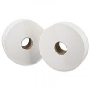 Pristine Toilet Roll Mini Jumbo 2-Ply Core 76mm Length 200m White Pack 12