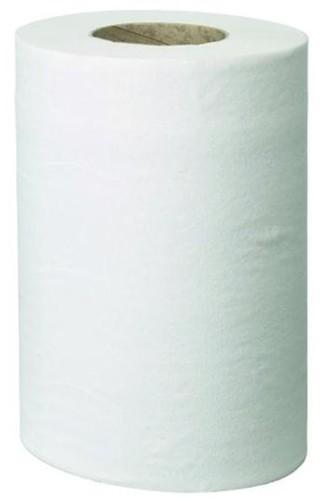 Enigma Centre-feed Roll Hand Towel Mini Single Ply 130m White Ref VMAX4681 [Pack 12]