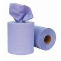 Pristine Centre-feed Hand Towel Roll 2-Ply 150m Blue Pack 6