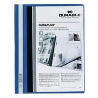 Durable Duraplus Quotation Filing Folder PVC With Clear Title Pocket A4 Blue Code 2579/06