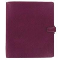 Filofax Finsbury Personal Organiser Leather Rambling Grain A5 Raspberry Ref 025371