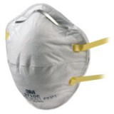 3M Respirator Unvalved FFP1 Classification White With Yellow Straps Code 8710E