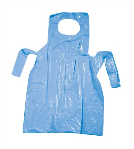 Polyco Aprons Polythene Disposable on Roll 80g 270x420mm Blue Ref AP2912B [Pack 200]