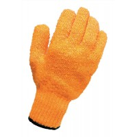 Image for CPD Knitted Grip Gloves [Pair] High Grip PVC Lattice One Size Ref VBLCG1