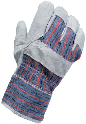 CPD Work Gloves [Pair] Rigger Style All-purpose Leather and Cotton 51mm Cuff One Size Ref VBLL17