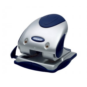 Rexel P240 Punch 2-Hole Heavy-duty with Nameplate Capacity 40x 80gsm Silver and Blue Ref 2100749