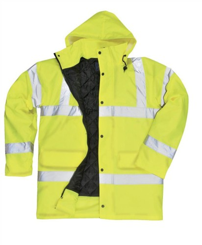 Portwest High Visibility Coat Polyester with Waterproof Coating Large Yellow Ref S460YERL