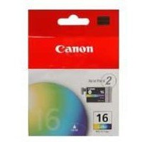 Canon BCI-16CL Inkjet Cartridge Page Life 80pp Colour Ref 9818A002 [Pack 2]