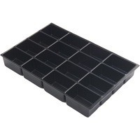 Bisley Insert Tray 2/16 Plastic for Storage Cabinet 16 Sections H51mm Black Ref 225P1