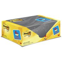 Post-it Note Value Display Pack Dispenser with Pads 76x127mm Yellow Ref 655Y-16VP [Pack 16]