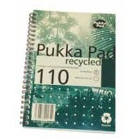 Pukka Pad Recycled Notebook Wirebound Perforated Ruled 80gsm 110pp A5 Ref RCA5/110 [Pack 3]