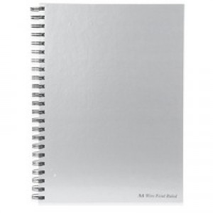 Pukka Pad Pad Silver Wirebound Book A4 80gsm 160 Pages Feint-Ruled Code WRULA4