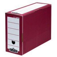 R-Kive Premium Transfer File W127xD359xH254mm Red and White Ref 00058-FF [Pack 10]