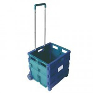 Folding Container Trolley Blu/Grn 356684