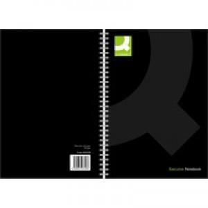 Q-Connect Black A5 Wirebnd Notebook Pk3